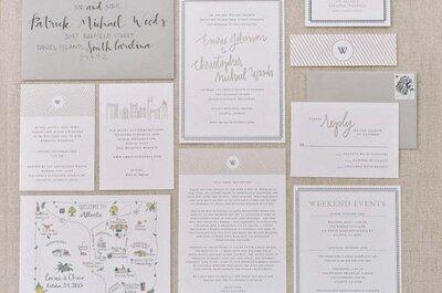 5 invitaciones para 5 estilos de boda distintos: Ideas de lo más lindas