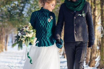 Насущный вопрос: как правильно подобрать накидку к свадебному платью в холодное время года?