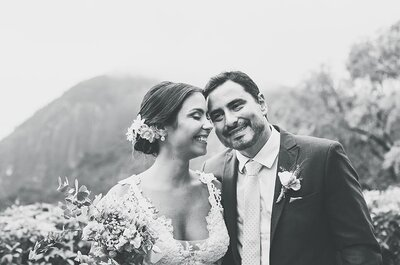 Mini wedding de Amanda e Flavio: casamento rústico chic com noivos deslumbrantes!
