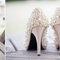 Zapatos de novia con brillos y aplicaciones - Foto Glass Jar Photography