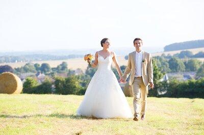 Marion et Alex : un mariage orange et turquoise dans la campagne picarde