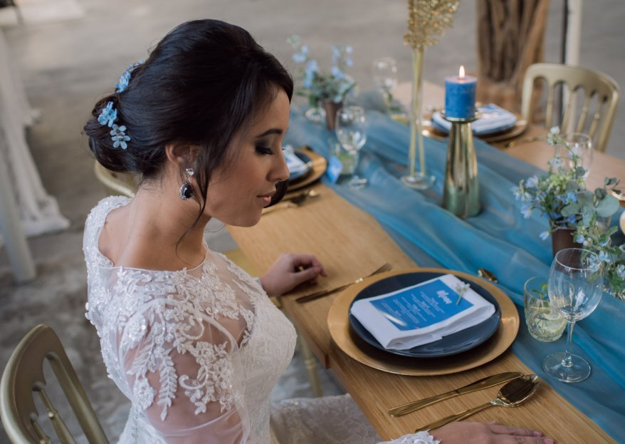 Styled Shoot: Goud met 'something blue'