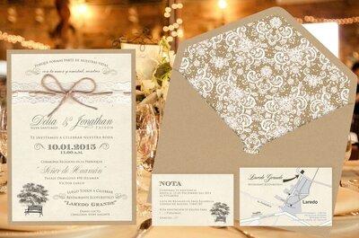 Las últimas tendencias en invitaciones de matrimonio 2017. ¡Triunfa con tus partes de boda!
