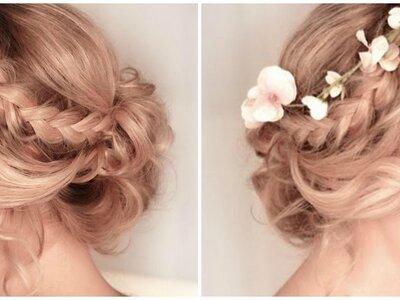 Un peinado precioso y sencillo para novia que puedes hacer ¡con tus propias manos!
