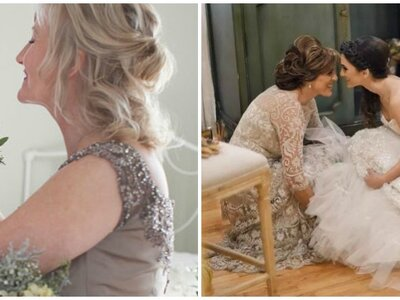 Have you ever considered trying on your mother's wedding dress?