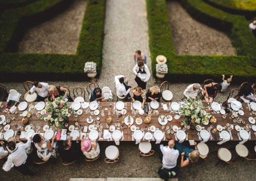 Una selezione di catering esclusivi per un menù di nozze originale
