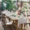 Tavolo in stilo rustico con candele