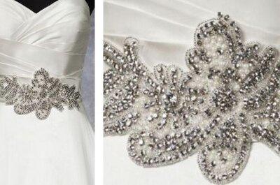 Elegantes cinturones para el vestido de novia