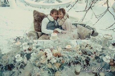 Зимняя свадьба: снежная сказка Терезы и Дениса