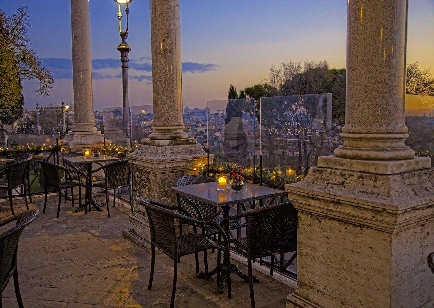 Porta la grandezza di Roma nel tuo grande giorno, sposati a Casina Valadier