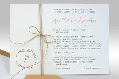 Las 6 tendencias más innovadoras en invitaciones de boda: ¡apunta y acierta!