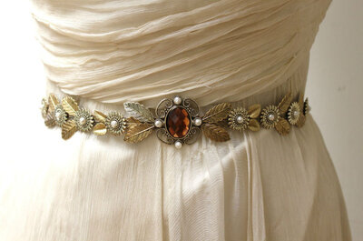 Cinturones joya: el mejor complemento para tu vestido de novia