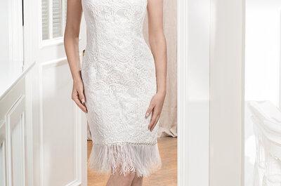 Die 101 atemberaubendsten, kurzen Brautkleider und Zweiteiler für Ihre Hochzeit!