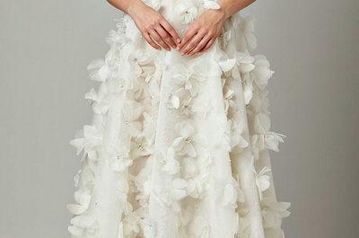 Vestidos de noiva com flores em 3D: tendência total!