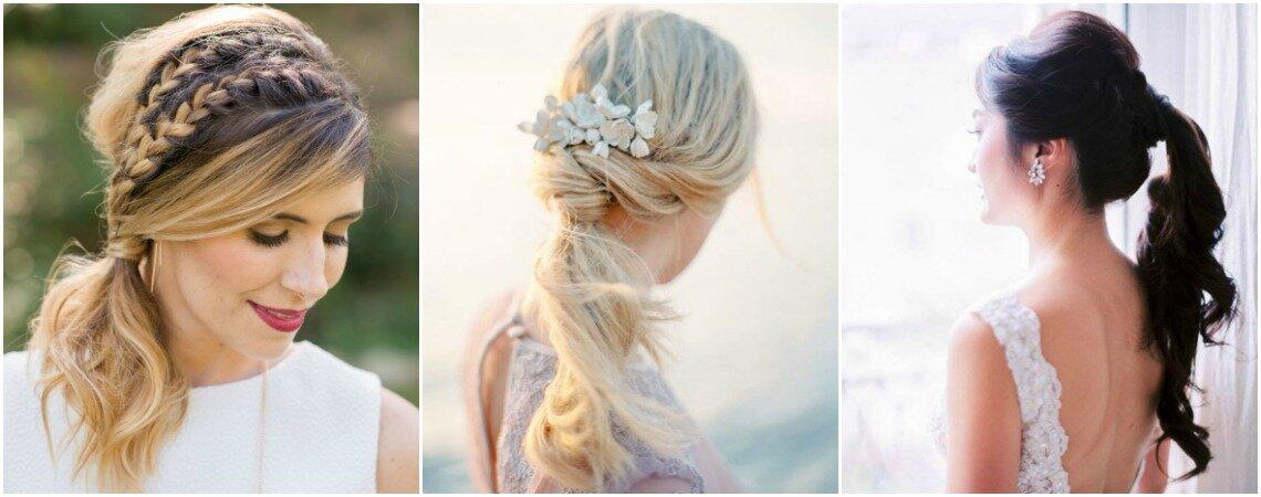 No te pierdas los peinados de novia con coleta, ¡los querrás lucir todos!