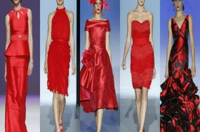 Vestidos de fiesta rojos para asistir a una boda