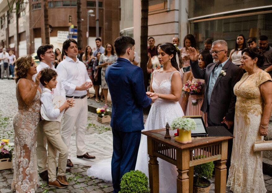 Tatiana & Ednardo: Rio Antigo é palco de casamento sustentável, handmade e com a personalidade dos noivos