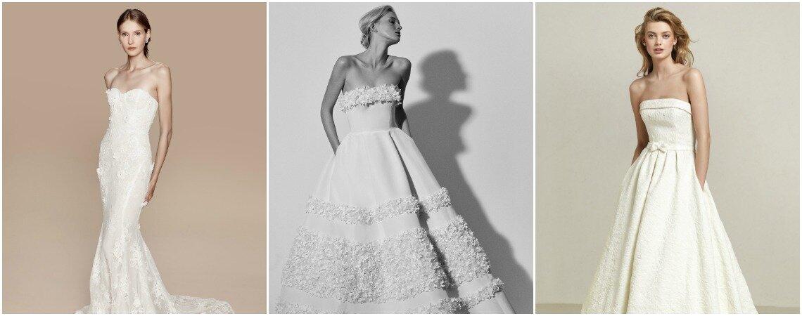 Robes de mariée bustier : un classique à ne pas laisser échapper