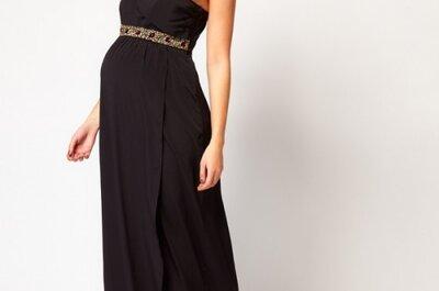 Vestidos y outfits de fiesta para invitadas de boda embarazadas