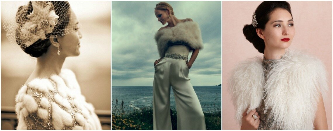Planning a Winter Wedding? Then Don't Miss These Beautiful Bridal Fur Accessories