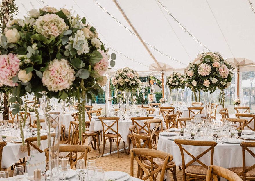 Be Lounge Rental desarrolla una escenografía perfecta para tu boda, llenándola de estilo