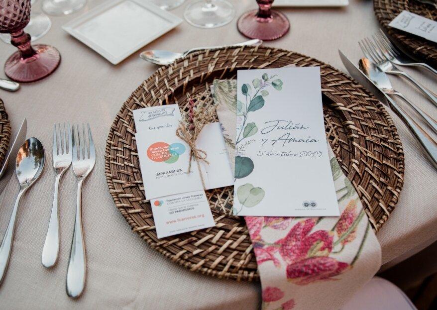 Elige una boda solidaria con la Fundación Josep Carreras y sus regalos para luchar contra la leucemia