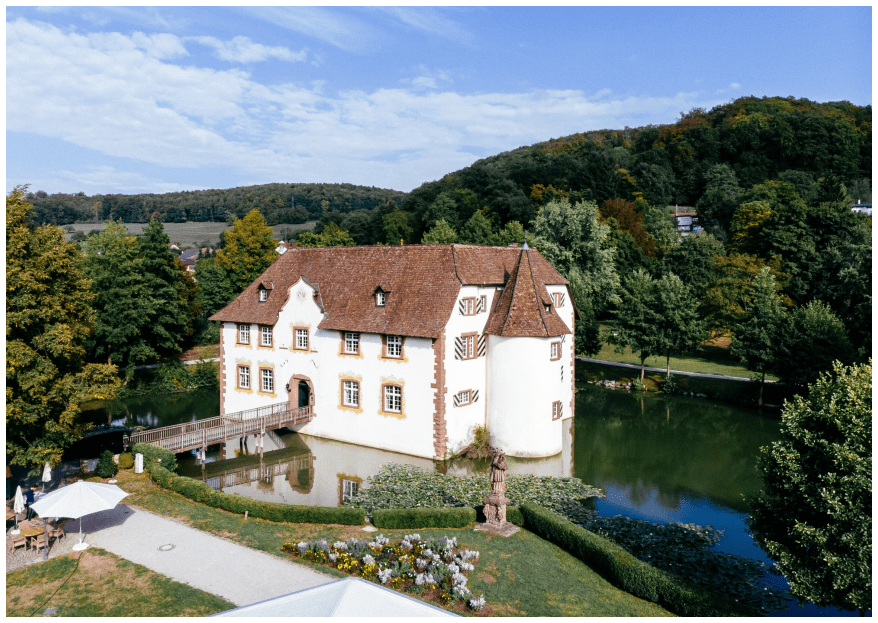 Das traumhafte Hochzeitsfest von Christine und Rolf im Inzlinger Wasserschloss