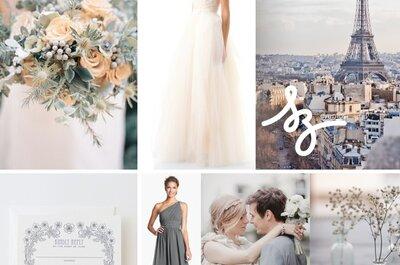 Así se verá tu boda si eliges detalles en color gris sutil