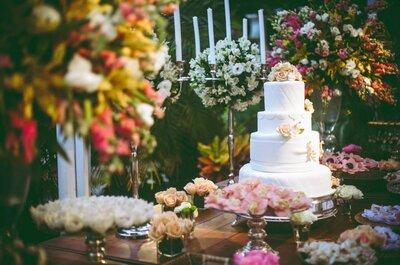 Utiliza la tarta de tu boda como elemento decorativo: un toque de color delicioso