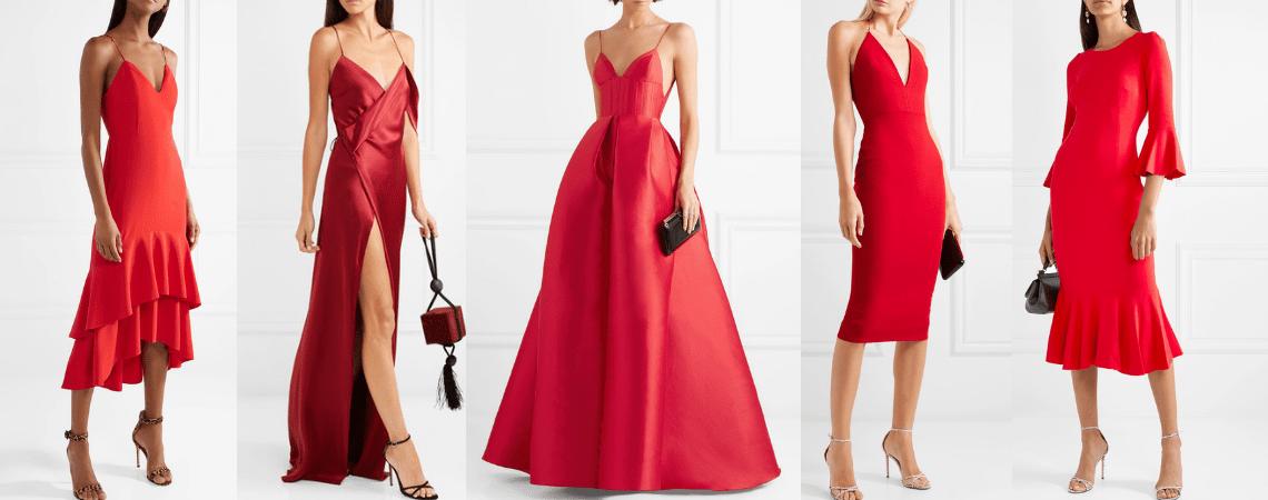 Vestidos de fiesta rojos ¡vístete del color del amor!