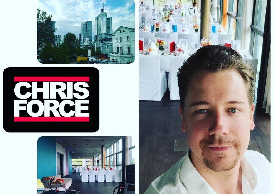 DJ Chris Force sorgt mit stimmungsvoller und abwechslungsreicher Musik für fantastische Stimmung an Ihrem Hochzeitstag!