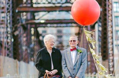61 aniversario de boda al estilo