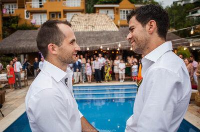Rafael & BJ: mini wedding em Búzios une brasileiro e canadense!