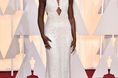 Oscar 2015: famosas apostam em vestidos bordados e tons claros no tapete vermelho