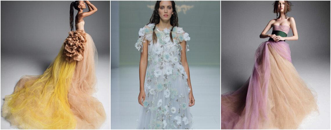 Atrevidos vestidos de novia de color. ¡Sorprende a todos con estos hermosos y originales diseños!