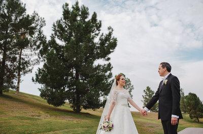 El ramo de novia más hermoso y un poco de champagne: Así fue la boda de Laura y Pablo