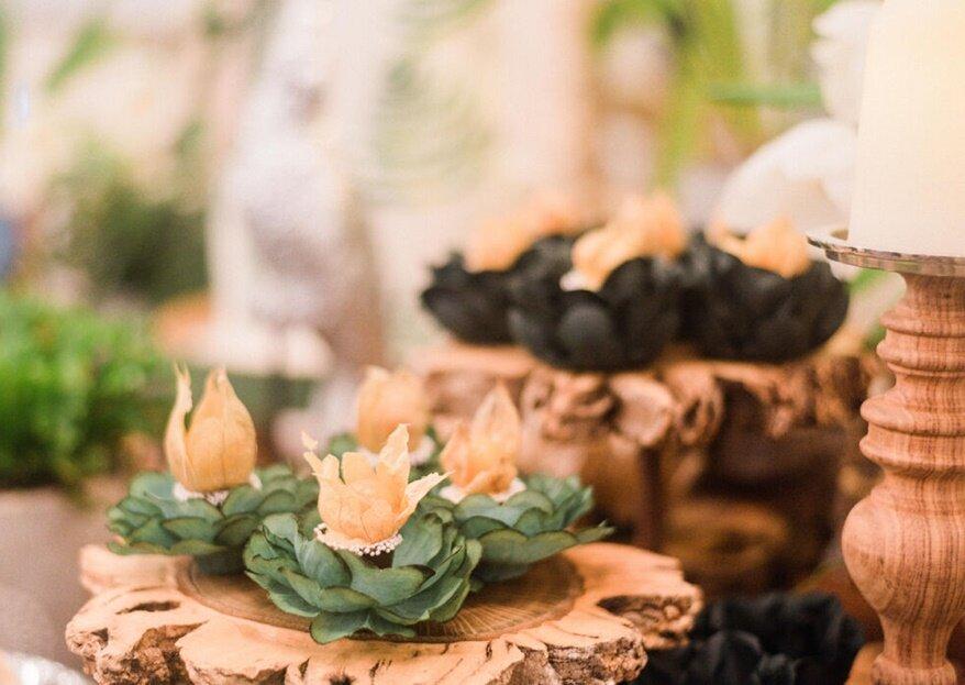 Os imprescindíveis do lado mais delicioso do seu dia: o catering, mesa de doces e bolo de casamento!