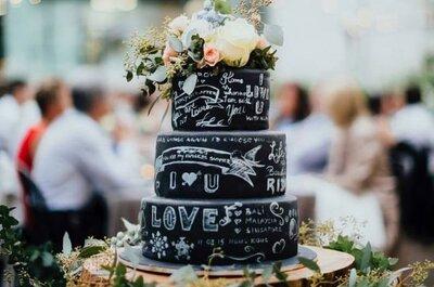 Торт Chalkboard с эффектом