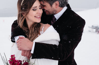 Casamento na neve de Gabi e Patrick: um conto de fadas real cheio de detalhes DIY!