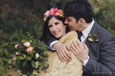 Música en el corazón: la perfecta boda de invierno de Inma y Andeka