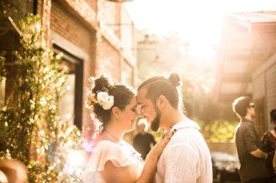 Meu casamento ao ar livre com Daniel: pés descalços, detalhes hippie, boho, vintage, a nossa cara!