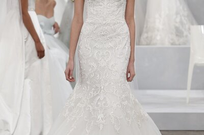 Suknie ślubne 2015: Monique Lhullier – New York Bridal Week