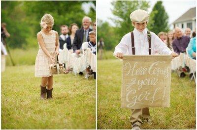 So integrieren Sie Kinder in Ihre Hochzeitszeremonie!