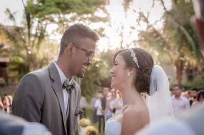 Casamento no campo de Deborah e Leo: Boho chic em tons pastel no interior de Minas!