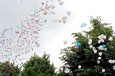 ¿Has pensado usar globos en la decoración de la boda?