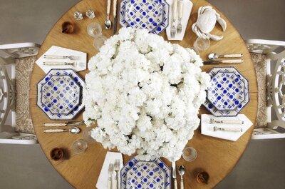 Una decoración de lujo para las mesas de la boda
