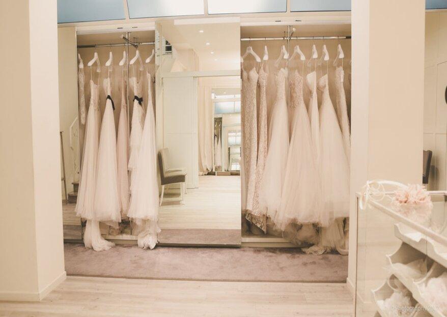 Boutique Alba: la migliore selezione di abiti da sposa dallo stile pulito e raffinato