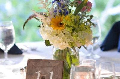 Tischdekoration für die Hochzeitsfeier zum Selbermachen - Dekoration für die Hochzeit selberbasteln