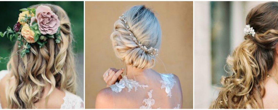 Brautfrisuren für 2019 - Die 60 schönsten Vorschläge für den grossen Tag!