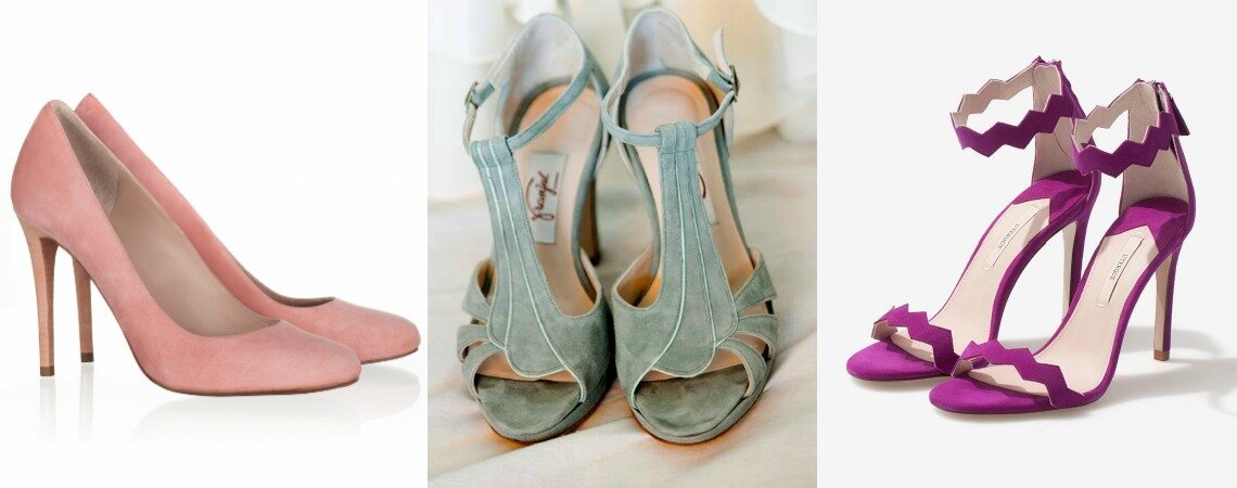 Coloured Bridal Shoes For 2018: Bring Your Wedding Look To Life